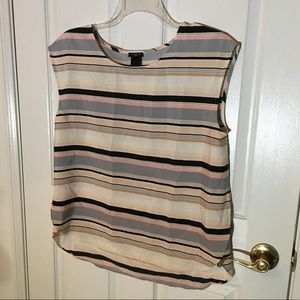 Ann Taylor Petites Stripe Blouse ❤️ OFFERS WELCOME
